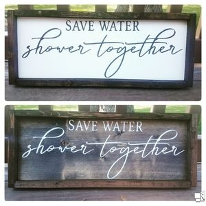 Accents - Save water sign